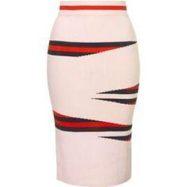 Eraser Stripe Skirt at Topshop