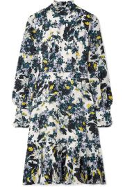 Erdem   Bernette button-detailed floral-print silk crepe de chine dress at Net A Porter