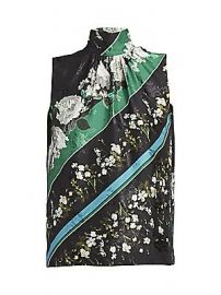 Erdem - Koren Tie-Neck Daffodil-Print Blouse at Saks Fifth Avenue