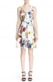 Erdem  Fabienne  Floral Print V-Neck Dress at Nordstrom