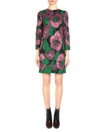 Erdem Elly Metallic Floral Jacquard Shift Dress at Bergdorf Goodman