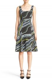 Erdem Tate Floral Print Neoprene A-Line Dress at Nordstrom