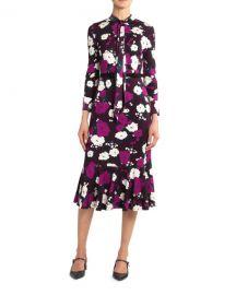 ErdemHilma Bow Flounce Dress at Neiman Marcus