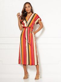 Erika Stripe Jumpsuit - Eva Mendes Collection by New York and Company at NY&C
