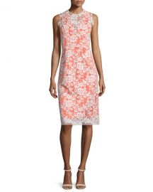 Erin Fetherston Sleeveless Lace-Overlay Cocktail Dress at Neiman Marcus