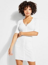 Erin Lace Up Sweater Dress at Guess