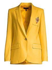 Escada - Beart Crest Wool One-Button Blazer at Saks Fifth Avenue