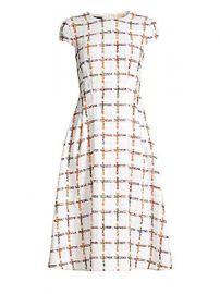 Escada - Dhima Cap Sleeve Rainbow Windowpane Check Dress at Saks Fifth Avenue