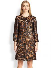 Escada - Leopard Jacquard Coat at Saks Fifth Avenue