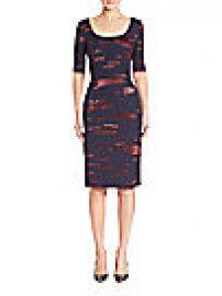Escada - Printed Fil Copupe Sheath Dress at Saks Fifth Avenue
