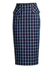 Escada - Redka Windowpane Pencil Skirt at Saks Fifth Avenue