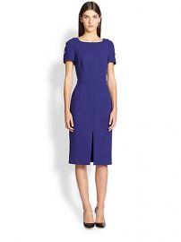 Escada - Toggle-Detail Wool Sheath Dress at Saks Fifth Avenue