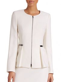 Escada - Wool Zip-Front Peplum Jacket at Saks Fifth Avenue