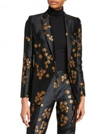 Escada Begasha Floral Slim Blazer at Neiman Marcus