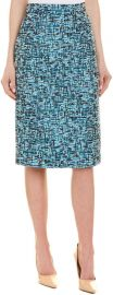Escada Blue Pencil Skirt at Amazon