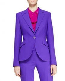 Escada Long-Sleeve Wool Blazer Purple at Neiman Marcus
