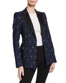 Escada Night Sky Jacquard Jacket at Neiman Marcus