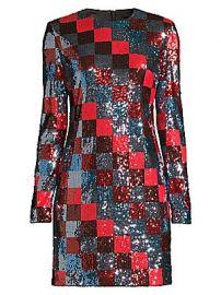 Escada Sport - Deighty Multi-Sequin Checkerboard Shift Dress at Saks Fifth Avenue