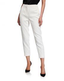 Escada Talaranto Floral Jacquard Pants  White at Neiman Marcus