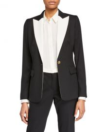EscadaBavoya One-Button Jacket at Neiman Marcus