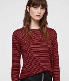 Esme Linen Stripe T-shirt at All Saints