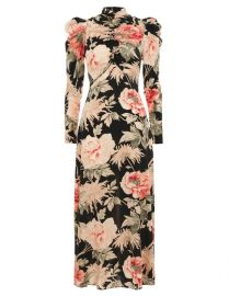 Espionage Drape Dress in Peony Print by Zimmermann at Zimmermann
