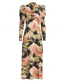 Espionage Floral Silk Dress at Intermix