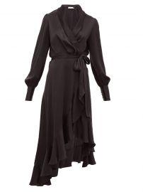 Espionage ruffle-hem silk wrap dress at Matches