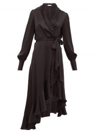 Espionage ruffle-hem silk wrap dress at Matches