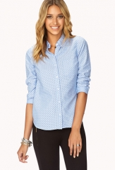 Essential polka dot oxford shirt at Forever 21