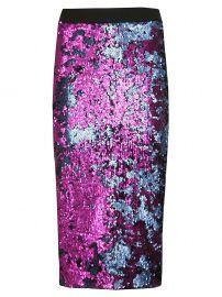 Essentiel Antwerp Sequined Pencil Skirt at Italist