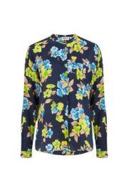 Essentiel Antwerp Vanne Shirt in Blue Floral with Dots at Atterley