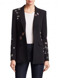 Estelle Embroidered Blazer at Saks Fifth Avenue