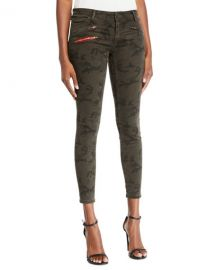 Etienne Marcel Camo-Print Cropped Skinny Jeans at Neiman Marcus