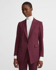 Etiennette Blazer by Theory in Mulberry at Theory