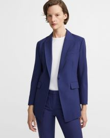 Etiennette Blazer in Sea Blue at Theory