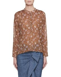 Etoile Isabel Marant Maria  Semisheer Cotton Blouse at Neiman Marcus