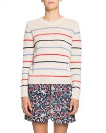 Etoile Isabel Marant Gian Striped Alpaca-Blend Crewneck Sweater at Neiman Marcus