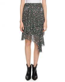 Etoile Isabel Marant Jeezon Floral-Print Asymmetric Skirt at Neiman Marcus