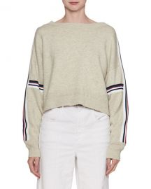 Etoile Isabel Marant Kao Boat-Neck Sweater with Stripes   Neiman at Neiman Marcus