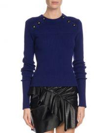 Etoile Isabel Marant Koyle Ribbed Button-Trim Sweater at Neiman Marcus