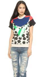 Etre Cecile Cheetah Insignia Short Sleeve Sweatshirt at Shopbop