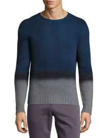 Etro Ombre Cashmere Crewneck Sweater  Navy x at Neiman Marcus