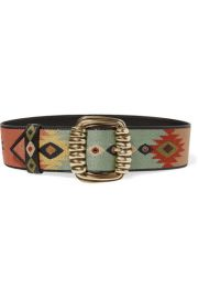 Etro - Embroidered leather waist belt at Net A Porter