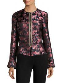 Etro - Floral Jacquard Peplum Bell-Sleeve Jacket at Saks Off 5th