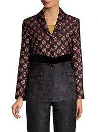 Etro - Floral Jacquard Peplum Jacket at Saks Fifth Avenue