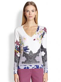 Etro - Floral Silk Sweater at Saks Fifth Avenue