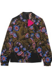 Etro   Floral-print silk-crepe blouse at Net A Porter