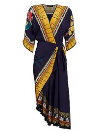 Etro - Garden of Eden Faux-Wrap Silk Midi Dress at Saks Fifth Avenue