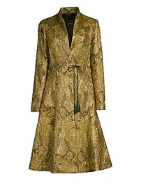 Etro - Jacquard Flare Topper Coat at Saks Fifth Avenue
